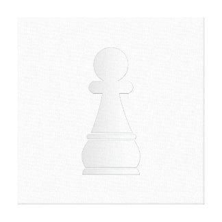 Pedazo de ajedrez blanco del empeño impresion en lona