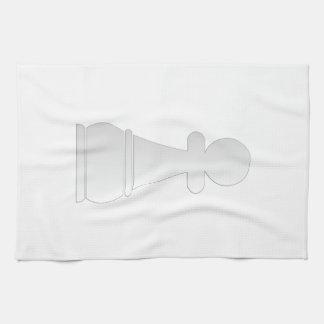Pedazo de ajedrez blanco del empeño toalla de cocina