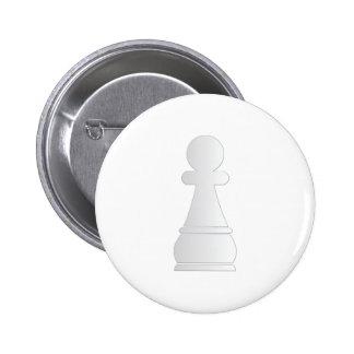 Pedazo de ajedrez blanco del empeño pin redondo 5 cm
