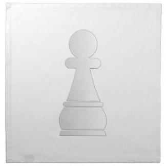 Pedazo de ajedrez blanco del empeño servilletas