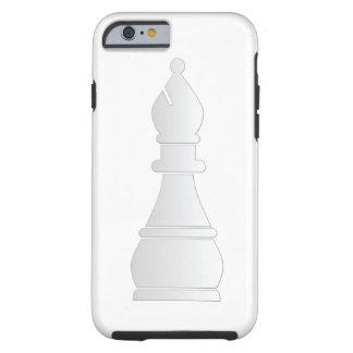 Pedazo de ajedrez blanco del obispo funda de iPhone 6 tough