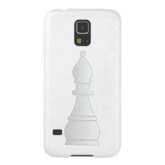 Pedazo de ajedrez blanco del obispo funda para galaxy s5