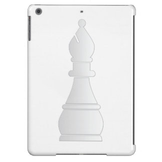 Pedazo de ajedrez blanco del obispo funda para iPad air
