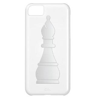Pedazo de ajedrez blanco del obispo funda para iPhone 5C