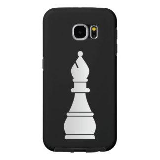 Pedazo de ajedrez blanco del obispo fundas samsung galaxy s6