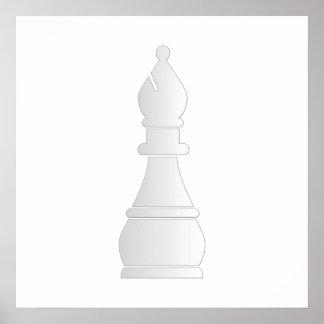 Pedazo de ajedrez blanco del obispo impresiones