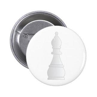 Pedazo de ajedrez blanco del obispo pin