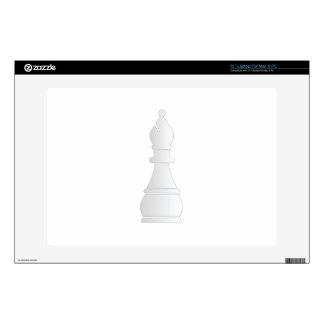 Pedazo de ajedrez blanco del obispo portátil calcomanía