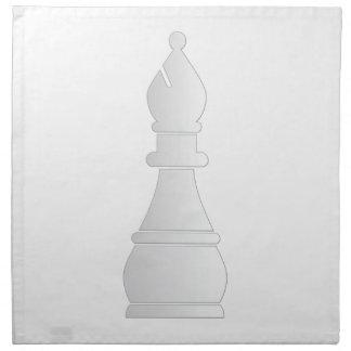 Pedazo de ajedrez blanco del obispo servilletas de papel