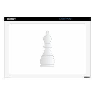 Pedazo de ajedrez blanco del obispo skins para 43,2cm portátil