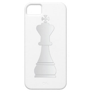 Pedazo de ajedrez blanco del rey iPhone 5 protectores