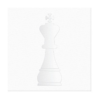 Pedazo de ajedrez blanco del rey impresión en lona estirada