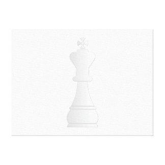 Pedazo de ajedrez blanco del rey impresiones en lienzo estiradas