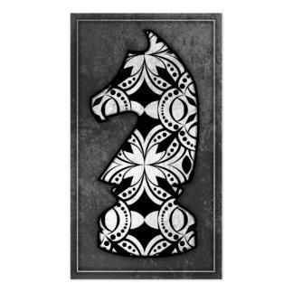 Pedazo de ajedrez - caballero oscuro 02 tarjetas de visita