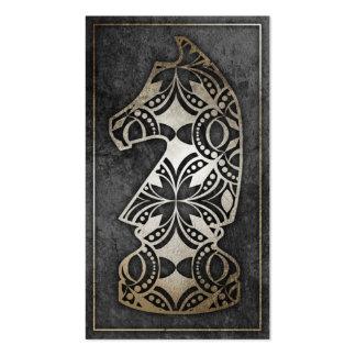 Pedazo de ajedrez - caballero oscuro plantillas de tarjetas de visita