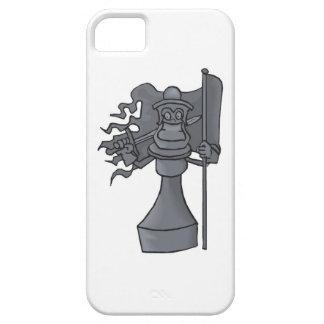 Pedazo de ajedrez con la caja del teléfono celular iPhone 5 protector