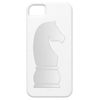 Pedazo de ajedrez del caballero blanco iPhone 5 carcasa