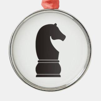 Pedazo de ajedrez del caballero negro ornamentos para reyes magos