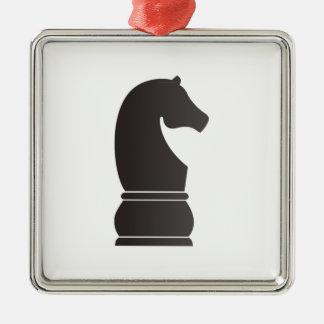 Pedazo de ajedrez del caballero negro ornato