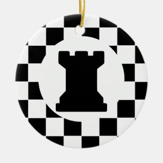 Pedazo de ajedrez del grajo - ornamento de Navidad