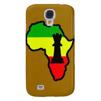 Pedazo de ajedrez negro de la reina de África Funda Para Galaxy S4