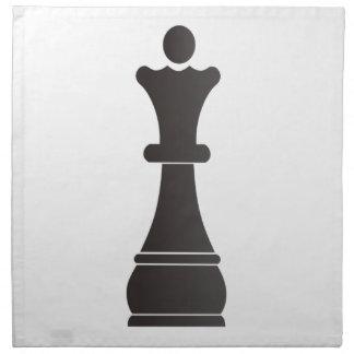 Pedazo de ajedrez negro de la reina servilleta