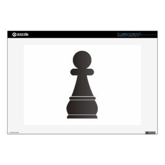 Pedazo de ajedrez negro del empeño calcomanía para portátil