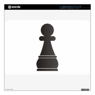 Pedazo de ajedrez negro del empeño calcomanías para el MacBook