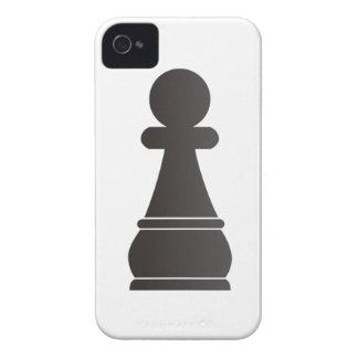 Pedazo de ajedrez negro del empeño iPhone 4 coberturas