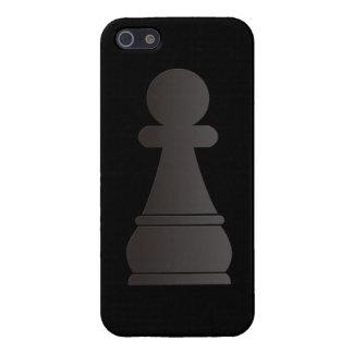 Pedazo de ajedrez negro del empeño iPhone 5 fundas