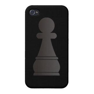 Pedazo de ajedrez negro del empeño iPhone 4/4S carcasa