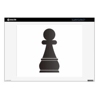 Pedazo de ajedrez negro del empeño portátil calcomanía