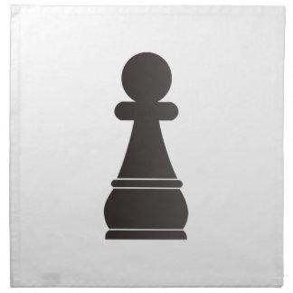 Pedazo de ajedrez negro del empeño servilletas