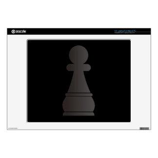Pedazo de ajedrez negro del empeño skins para 35,6cm portátiles