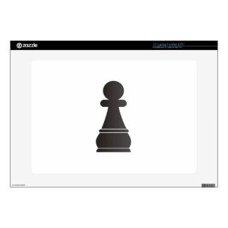 Pedazo de ajedrez negro del empeño skins para 38,1cm portátiles