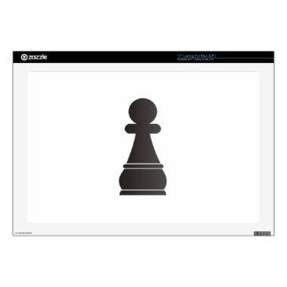 Pedazo de ajedrez negro del empeño skins para 43,2cm portátiles