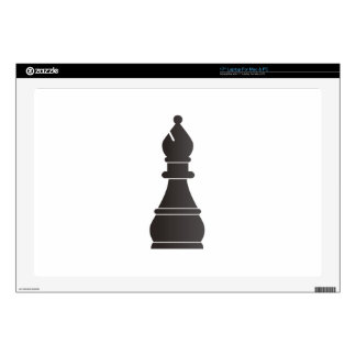 Pedazo de ajedrez negro del obispo calcomanías para portátiles
