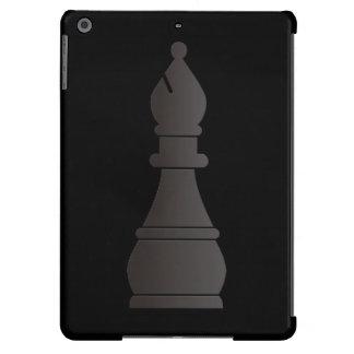 Pedazo de ajedrez negro del obispo funda para iPad air