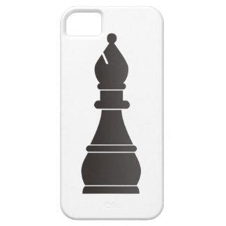 Pedazo de ajedrez negro del obispo funda para iPhone 5 barely there