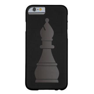 Pedazo de ajedrez negro del obispo funda para iPhone 6 barely there