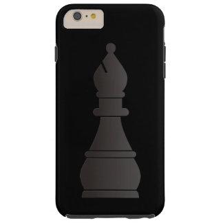 Pedazo de ajedrez negro del obispo funda para iPhone 6 plus tough