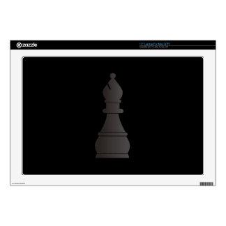 Pedazo de ajedrez negro del obispo skins para 43,2cm portátil