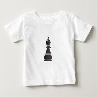 Pedazo de ajedrez negro del obispo t-shirt