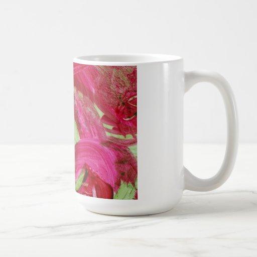 Pedazo de alegría en una taza
