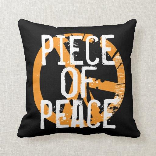 Pedazo de almohada de tiro del signo de la paz de