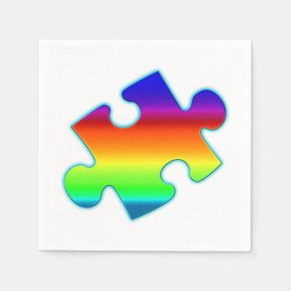 Pedazo de arco iris servilleta de papel