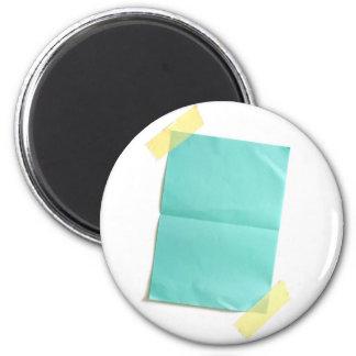 Pedazo de papel coloreado del espacio en blanco imán redondo 5 cm