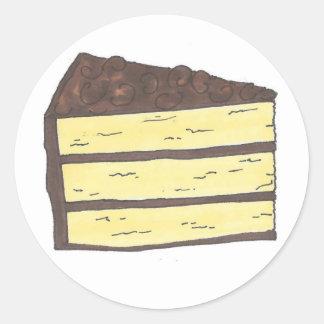 Pedazo de pegatinas de la torta pegatina redonda