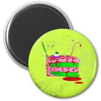 Pedazo de torta imán redondo 5 cm