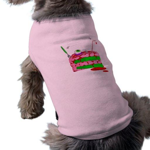 Pedazo de torta playera sin mangas para perro